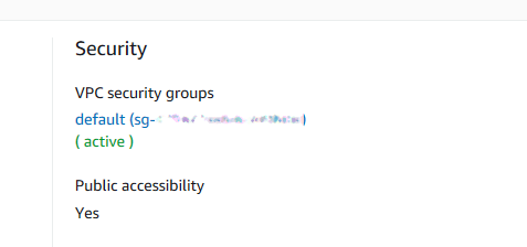Database security group